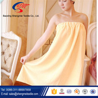 Best price high quality for adult women bath skirts with elastic belt bath towel