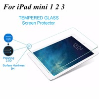 For ipad mini protective Guard Film Toughened glass Transparent Premium Tempered Glass Screen Protector For iPad mini2 3 Clear