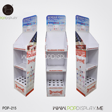 Eco Friendly Advertising Corrugated Paper Cardboard Pos Floor Display Stand For Promotion