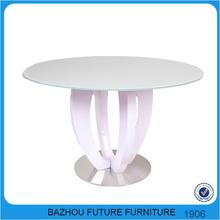 powder coating frame glass top dining tables ,painting temperend glass top dining table