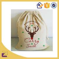 Custom Wholesale Cotton Linen Jute Drawstring Burlap Bags , Large Christmas Drawstring Gift Bags