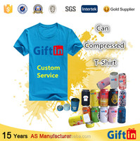 China Wholesale Custom Promotional Compressed T Shirt