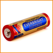 Super market zinc carbon 1.5 volt aa R6 R6P battery for flashlights