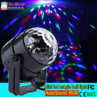 New RGB 3 *1w dj stage light led mini magic ball light new products looking for distributor