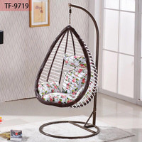 Outdoor teardrop wicker hanging egg chair swing chair