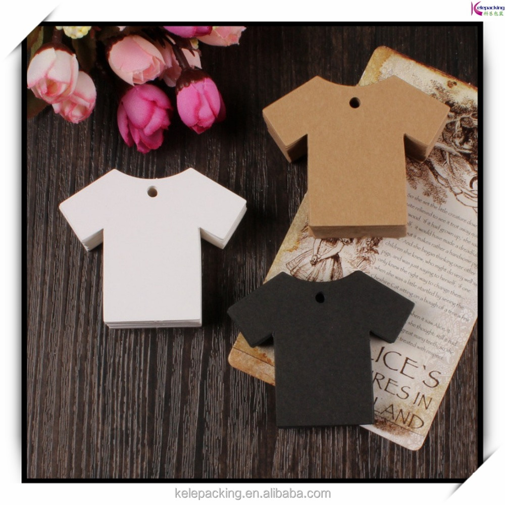 Clothing Shape Retro Kraft Paper Luggage Label Bookmarks Paper Hang Tag Jeans T-shirt Private Label