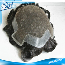 Hair patch custom human men hair toupee