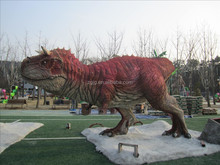 realistic life size huge fiberglass dinosaurs for playground epuipment