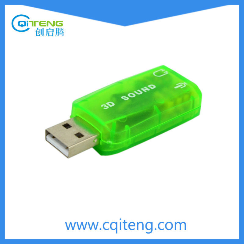 Shenzhen USB to 5.1 Sound Card, External USB To 3D Audio Sound Card Adapter