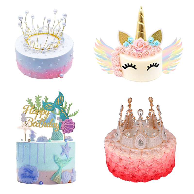 Happy Birthday Cake Accessories Baby Shower And Wedding Unicorn Topper