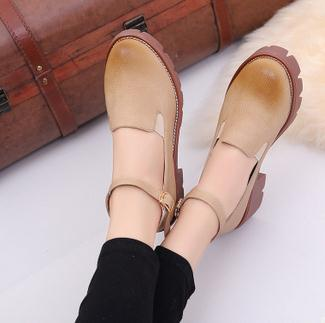 The new style purity explosion weap europe preppy look fine craft buckle strap lady shoes