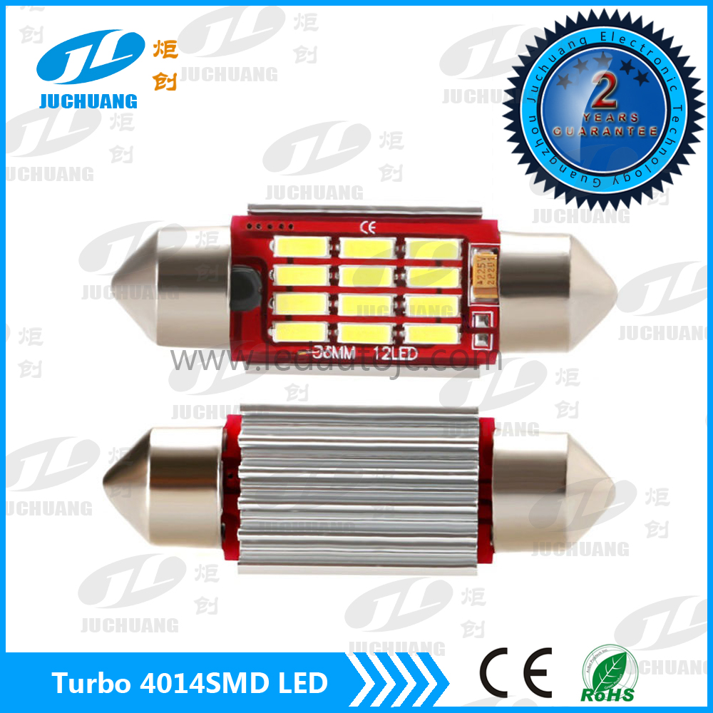 Festone 36MM 12 * 4014SMD Canbus Interior Auto LED festoon lights led