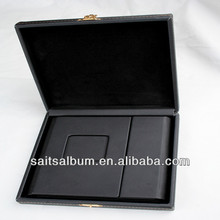 presentation DVD leather click box wedding cd case made in China