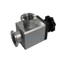 KF-40 Vacuum Angle Valve , Stainless steel ball valve for high vacuum sealing