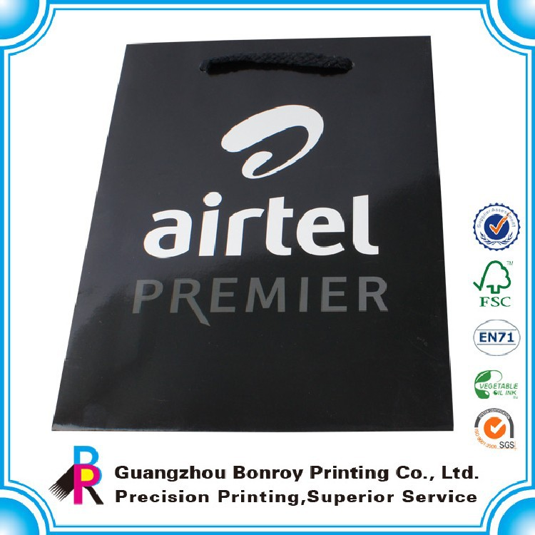 Promotional luxury paper bag decorations for gift
