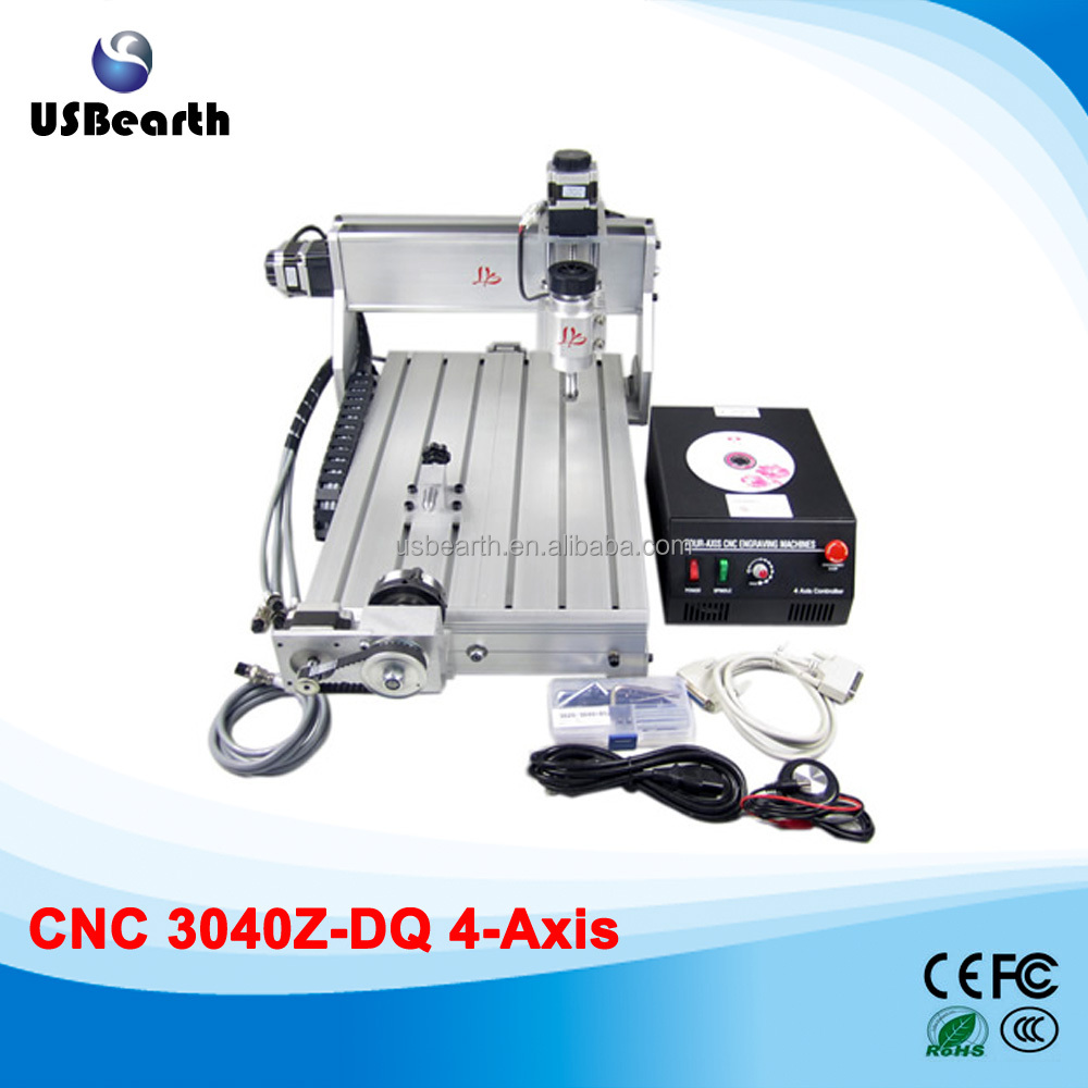 2016-2017 newest model mini CNC 3040Z-DQ 4axis Engraving Machine 3040 3D design machine, milling machine + DSP0501 controller