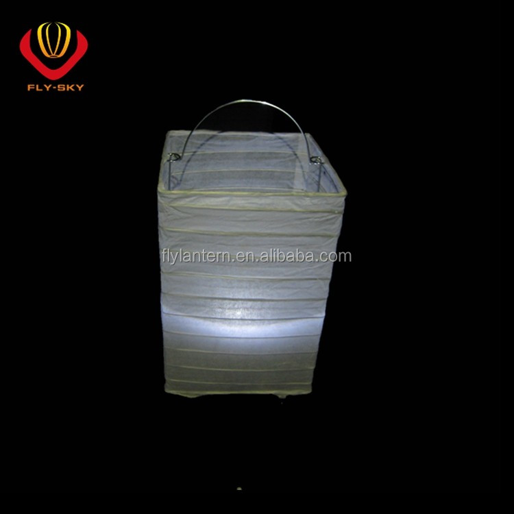 Hot sale LED paper lantern square shape for party wedding home shop occasion decoration