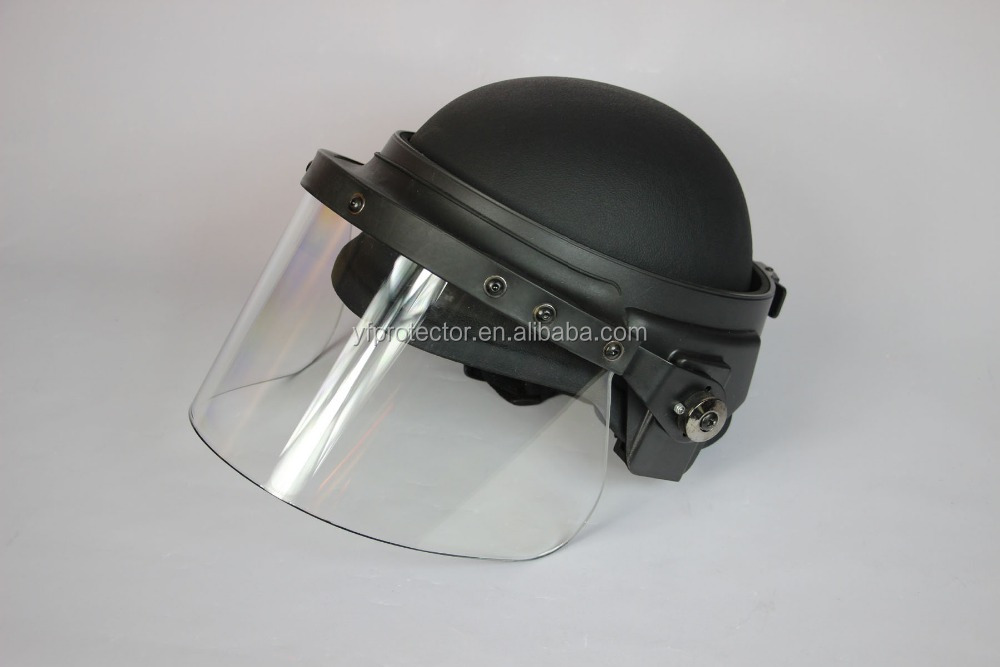 Military face shield/ballistic helmet visor/ bullet proof face shield