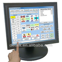 15inch resistive 4/5 touch screen tft-lcd monitor 1024*768 could provide POS software LED monitor