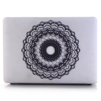 black lace serise hard shell case for macbook air 13 laptop