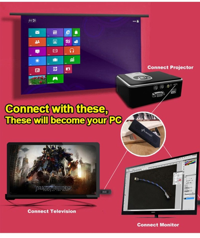 Meegopad T03 With Smart Quiet Fan Windows10 and Android 4.4 2GB / 32GB Intel Quad Core TV Player Compute android tv stick