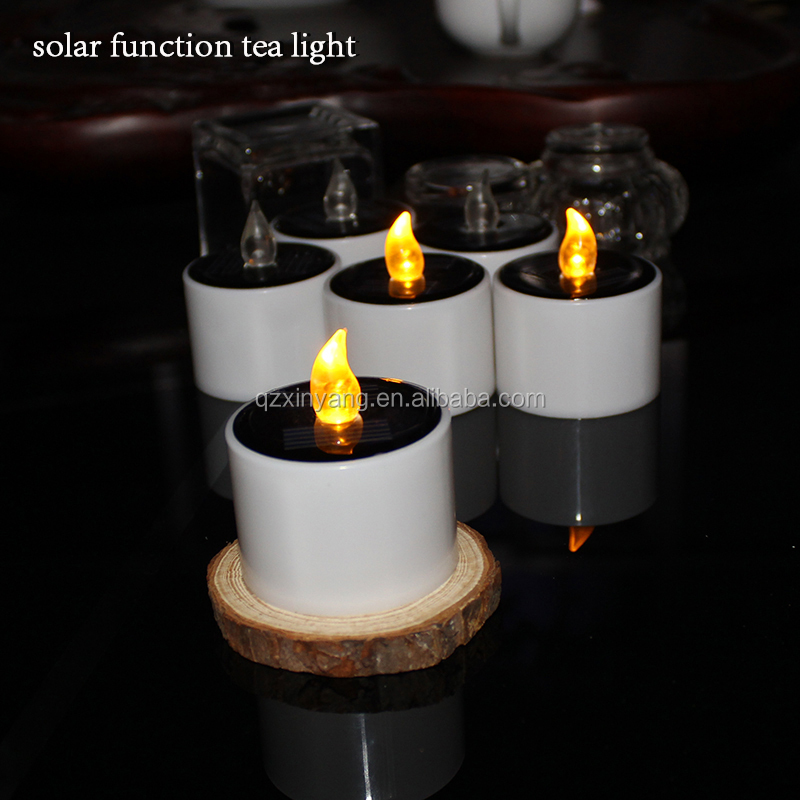 Solar LED Light Candle Flicker Candle Light Electronic Flameless Light