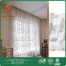 Luxury embroidery design sheer fabric for curtain