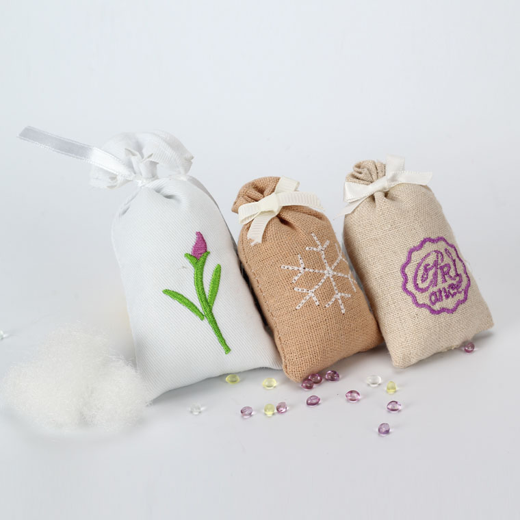 Custom cotton embroidered scented sachet fragrance sachet