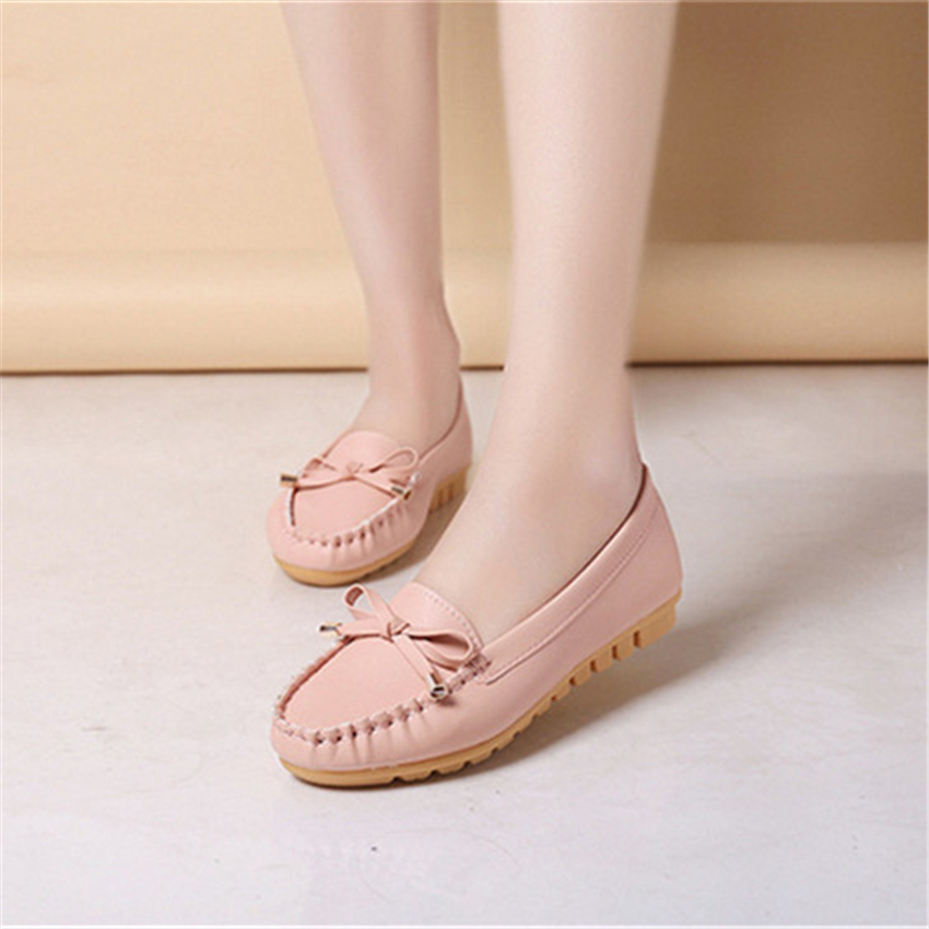 China women lady casual shoe factory fashion ladies round toe shoes mocosan ladies shoe 1pairs acceptable
