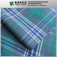 Brushed flannel 100 cotton yarn dyed woven fabric