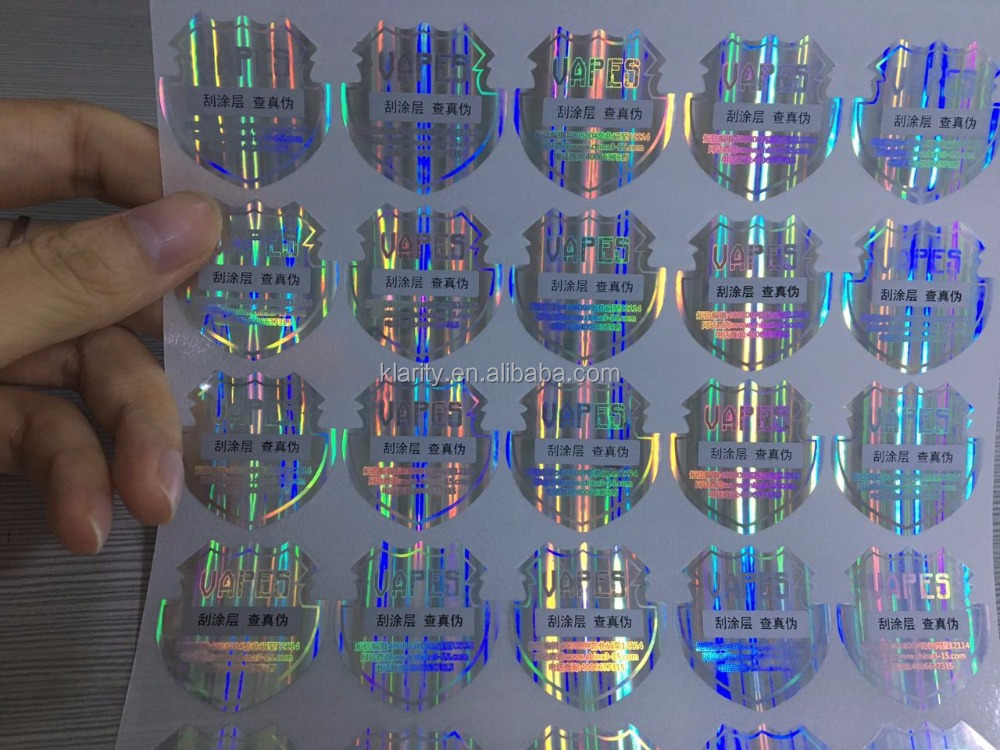 OEM design 3D hologram anti fake label laser sticker