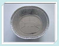 "7"" round aluminum container with flat board lid / foil container"