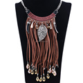 Hot sale antique silver plated alloy tassel design fashion necklace