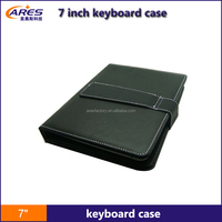 Newest PU Material 2.0 USB/MINI USB/Micro USB Type 7 inch keyboard case for android tablet