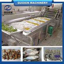 Contibuously non-stop leafy vegetable fruit lettuce cabbage bubble washing washer cleaning machine with ozone