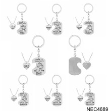 In Stock Best Selling Fashion Family Series Necklaces Mothers Day Gifts Cheap Heart Pendant Mom Jewellry Necklace