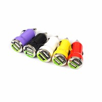 Hot sale 2 Ports Portable Usb Car Battery Charger Full 1A and2A for iPhone and Android