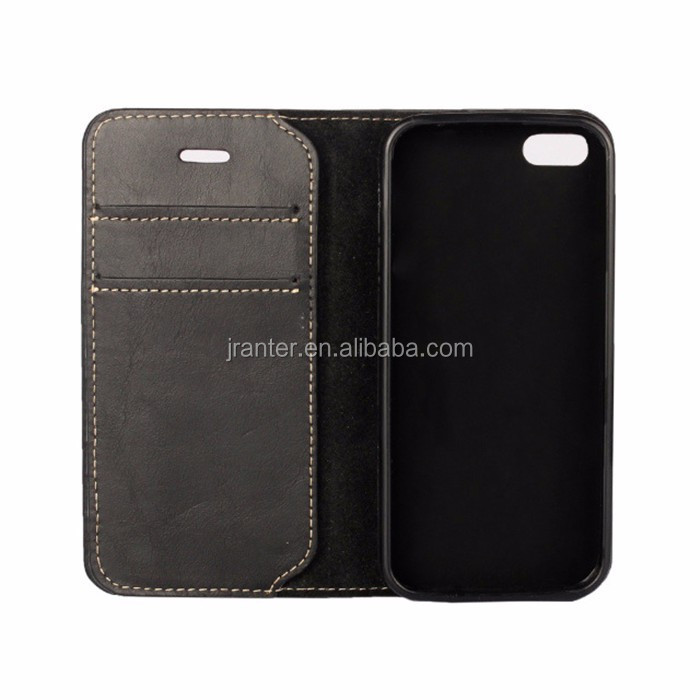 For Phone 6 Leather Wallet Case Custom Design Logo Cell Phone Wallet Case