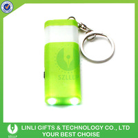 New Item 2 bulb light plastic led flashing keychain