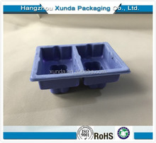 Plastic Flocking divided Blister Inner Packaging Tray