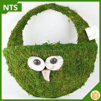 New Lovely Bird Animal Shape Green Moss Garden Wall Planter