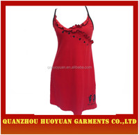 China Factory OEM Sexy Red Camisole Dress