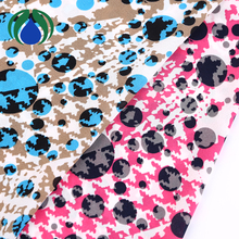 high quality blue and pink dot hs code polyester knitting fabric of fancy dress