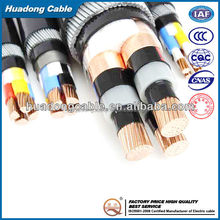 600/1000V PVC/SWA 4C x 400 SQ MM Copper /Aluminum XLPE Armoured electric cable