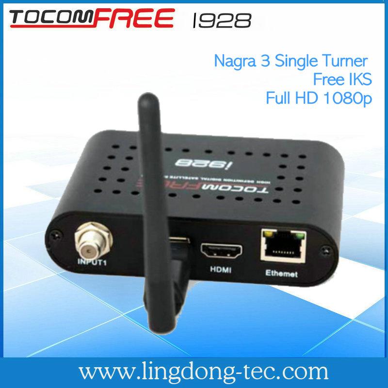 2014 Tocomfree i928 цифровой спутниковый ресивер декодирования спутникового телевиден
