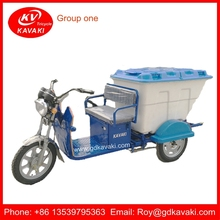 High Quality 60V 800W Three Wheel Electric Rubbish Tricycle For Maldives