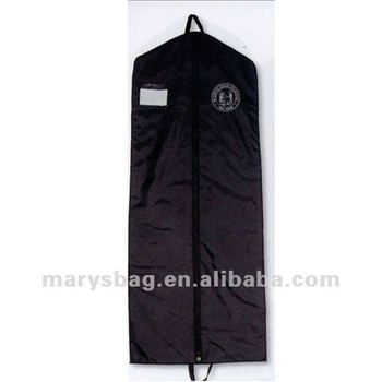nylon garment bag with Web Handles and Clear Pocket