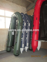 Liya fishing rubber boats with engine 6.5m lake heavy duty inflatables china