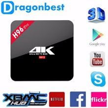 android tv box with air mouse 4k octa core smart tv box android 7.1 H96 pro s912 2g 16g