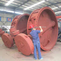 Big diameter cast iron and steel butterfly valve